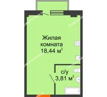 Студия 22,77 м² в ЖК Лайм, дом № 1 - планировка