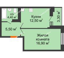1 комнатная квартира 39,7 м² в ЖК Вересаево, дом Литер 5/1