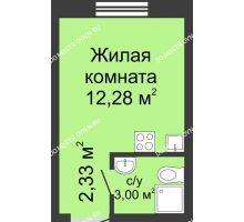 Студия 17,58 м² в ЖК Бурнаковский, дом № 39 - планировка