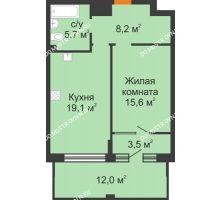 1 комнатная квартира 55,7 м² - ЖК Симфония Нижнего