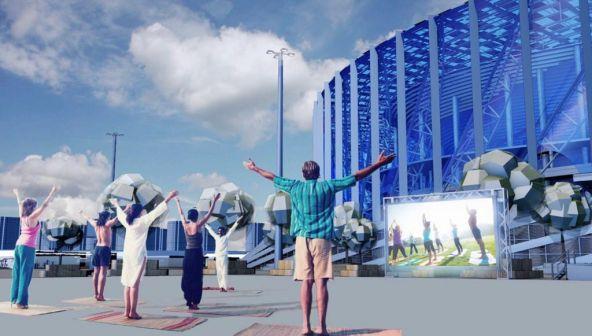 Проект спортивно-развлекательной площадки возле стадиона «Нижний Новгород»