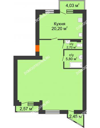 Студия 92,9 м² - ЖК Сергиевская Слобода