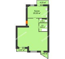 Студия 92,9 м², ЖК Сергиевская Слобода - планировка