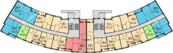 Планировка 1 этажа в доме № 3 в ЖК Ватсон