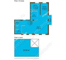 3 комнатная квартира 136,4 м² в ЖК Дом с террасами, дом № 1 - планировка