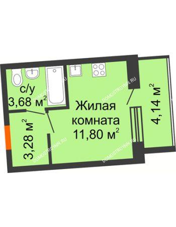 Студия 20,83 м² в ЖК АВИА, дом № 2