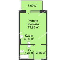 Студия 31,77 м² в ЖК Времена Года, дом № 1