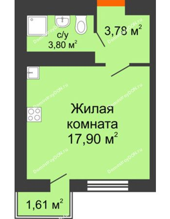 Студия 26,05 м² в ЖК Мечников, дом ул. Таврическая, 4