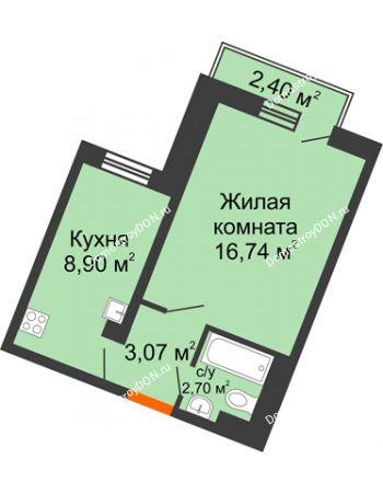 1 комнатная квартира 31,72 м² в ЖК Мечников, дом ул. Мечникова, 37