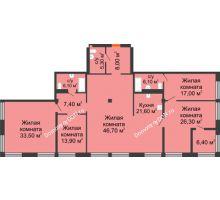 5 комнатная квартира 191,8 м², ЖК Богатяновский - планировка