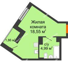 Студия 25,4 м² - ЖК Пушкин