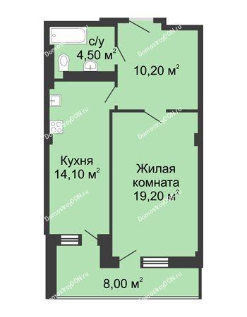 1 комнатная квартира 52 м² - ЖК Дом на Береговой