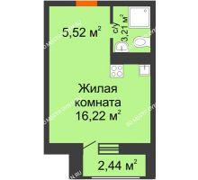 Студия 27,39 м² в ЖК Москва Град, дом 63 - планировка
