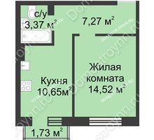 1 комнатная квартира 36,33 м² в ЖК Солнечный, дом д. 161 А/1