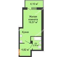 Студия 29,5 м², ЖК Дом на 14-й Линии - планировка